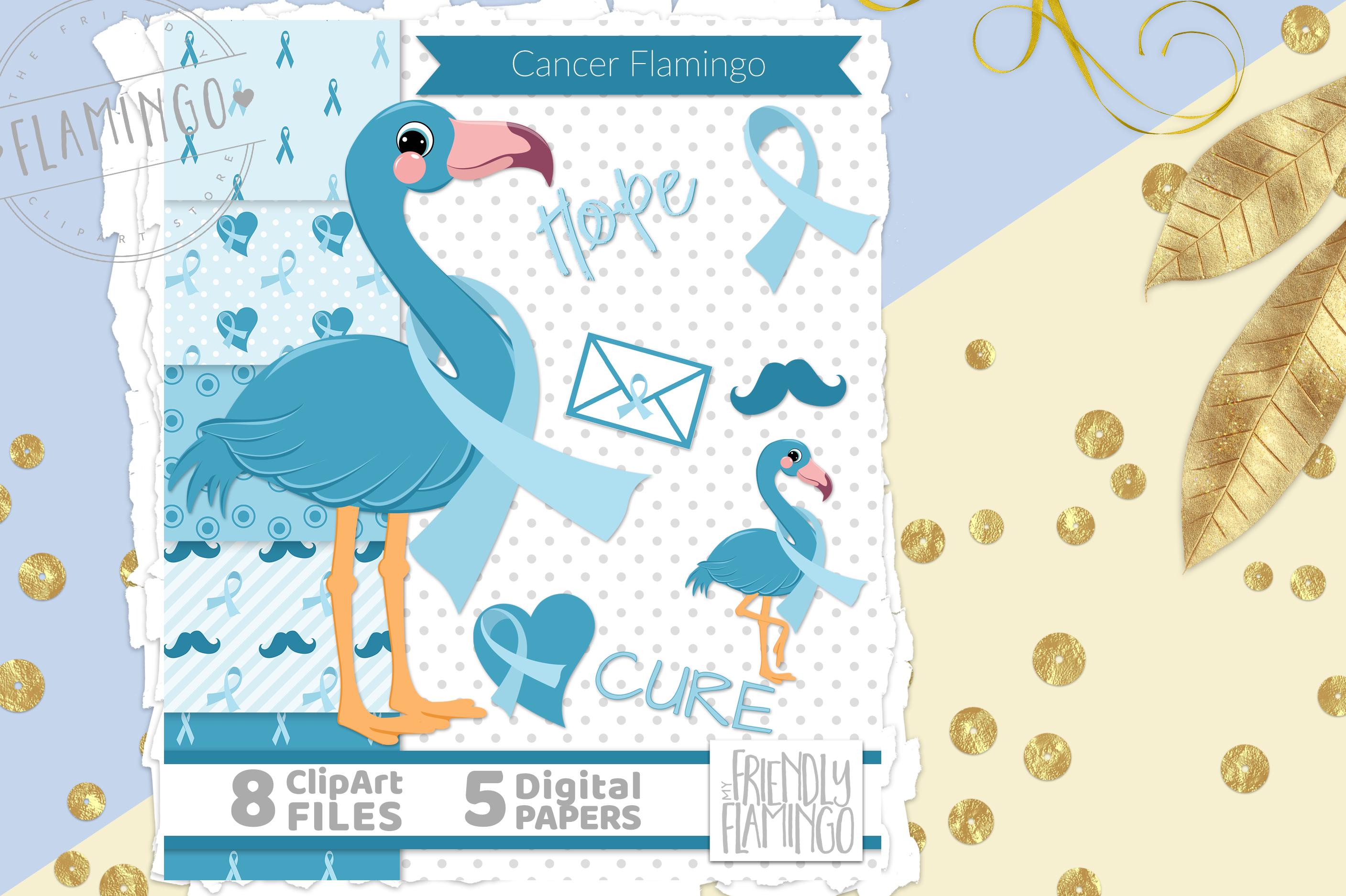 Prostate Cancer Flamingo By MyFriendlyFlamingo  TheHungryJPEG.com #Cancer, #ad, ...