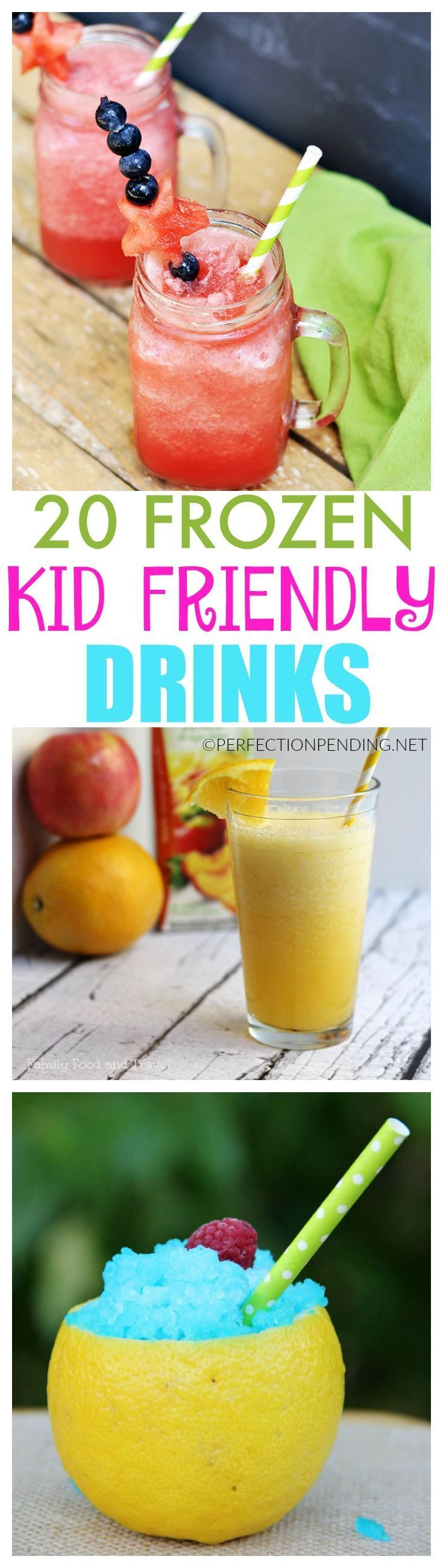 20 frozen kid friendly drinks for summer smoothie for Refreshing drink recipes non alcoholic