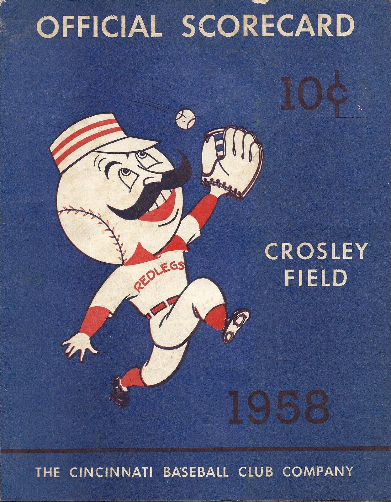 1958 Cincinnati Redlegs Vs Milwaukee Braves Official Scorecard Crosley Field Cincinnati Reds Cincinnati Reds Baseball Reds Baseball