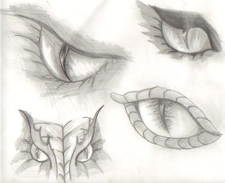 Dragon eyes sketch by katwomyn4ever on deviantart