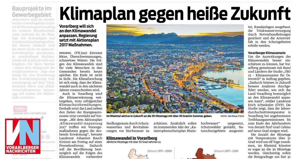 Klimaplan gegen heiße Zukunft - Vorarlberger Nachrichten