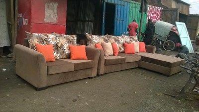 Pure Leather And Mahogany Five Seater Nairobi Furniture Sofa Sale Furniture Sofa
