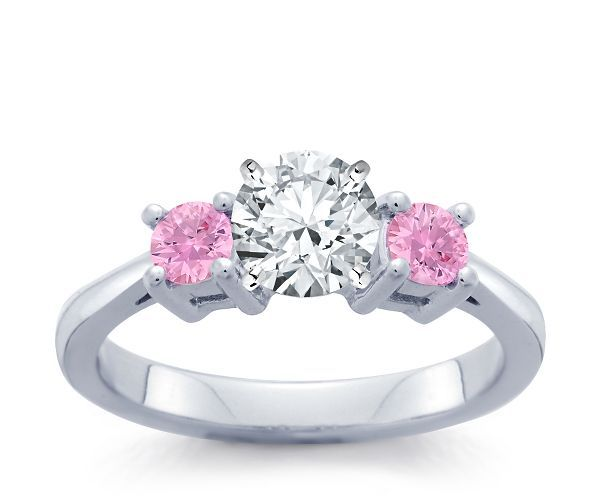 pink diamond engagement rings - Pink Wedding Rings