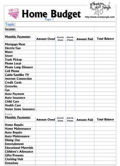 home bills template