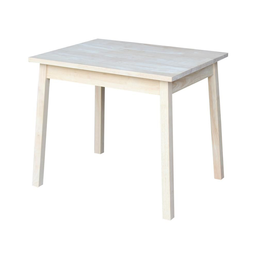 International Concepts Unfinished Kid S Table Jt 2026 The Home Depot Childrens Table Kid Table Solid Wood Table