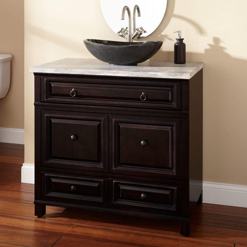 Bathroom Vanities L Vanity Cabinet Black Vessel Bathroom With Sink