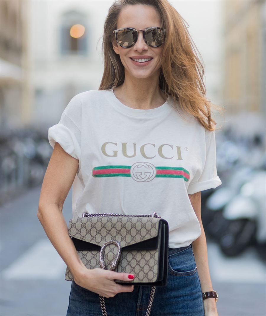 164b5b0a86 Where to buy the gucci logo t-shirt bloggers love