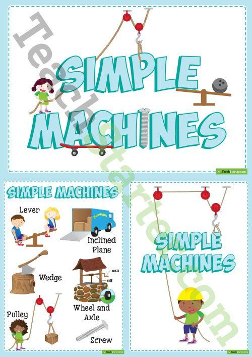 Simple Machines Display Posters Teaching Resource Simple Machines