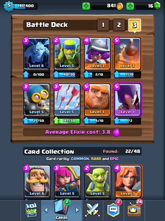 Best clash royale decks 3 decks for winning arenas 2 3 4 for Clash royale deck arc x