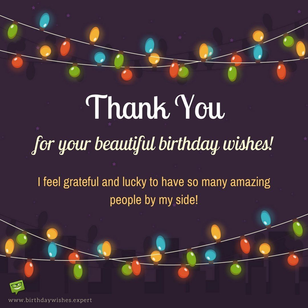 Thanks For Happy Birthday Wishes Quotes: Birthday Thank You Sentiments