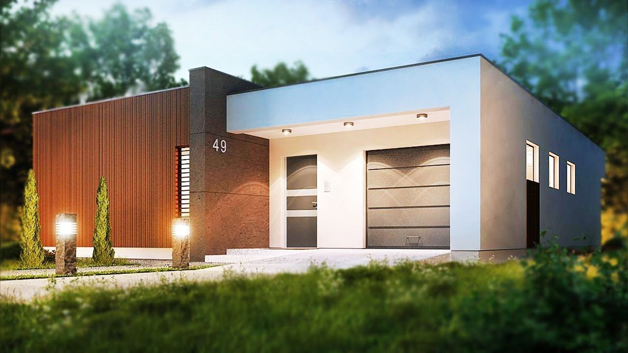 Best 129 30 M² A One Story House With Garage Modern Design 400 x 300
