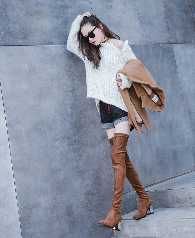 6d09461007 Best Thigh High Boots With Short Skirts In Winter | Lookbook Spring ...