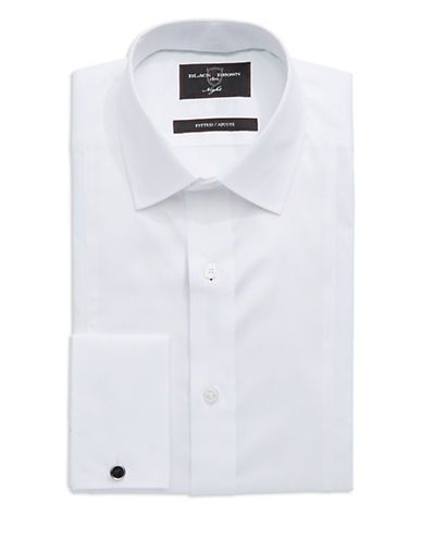 Black Brown 1826 Fitted Dress Shirt Men's White 15-32