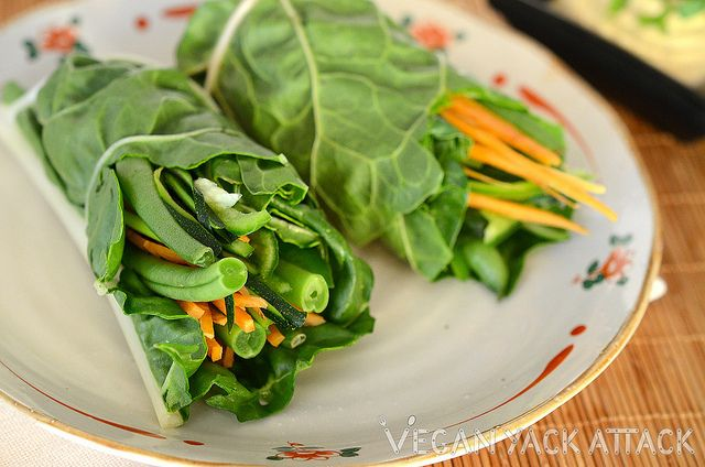 I love green wraps like this - I usually use collard leaves.