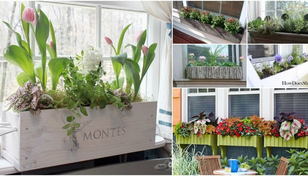 20 Gorgeous DIY Window Flower Box Planters To Beautify Your Home  150 Remarkable Projects and Ideas to Improve Your Homes Curb Appeal  Really good ideas to boo