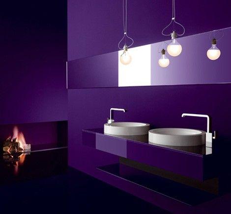 Awesome Purple Bathroom Design Pics I 3 Purple Violet Salle De