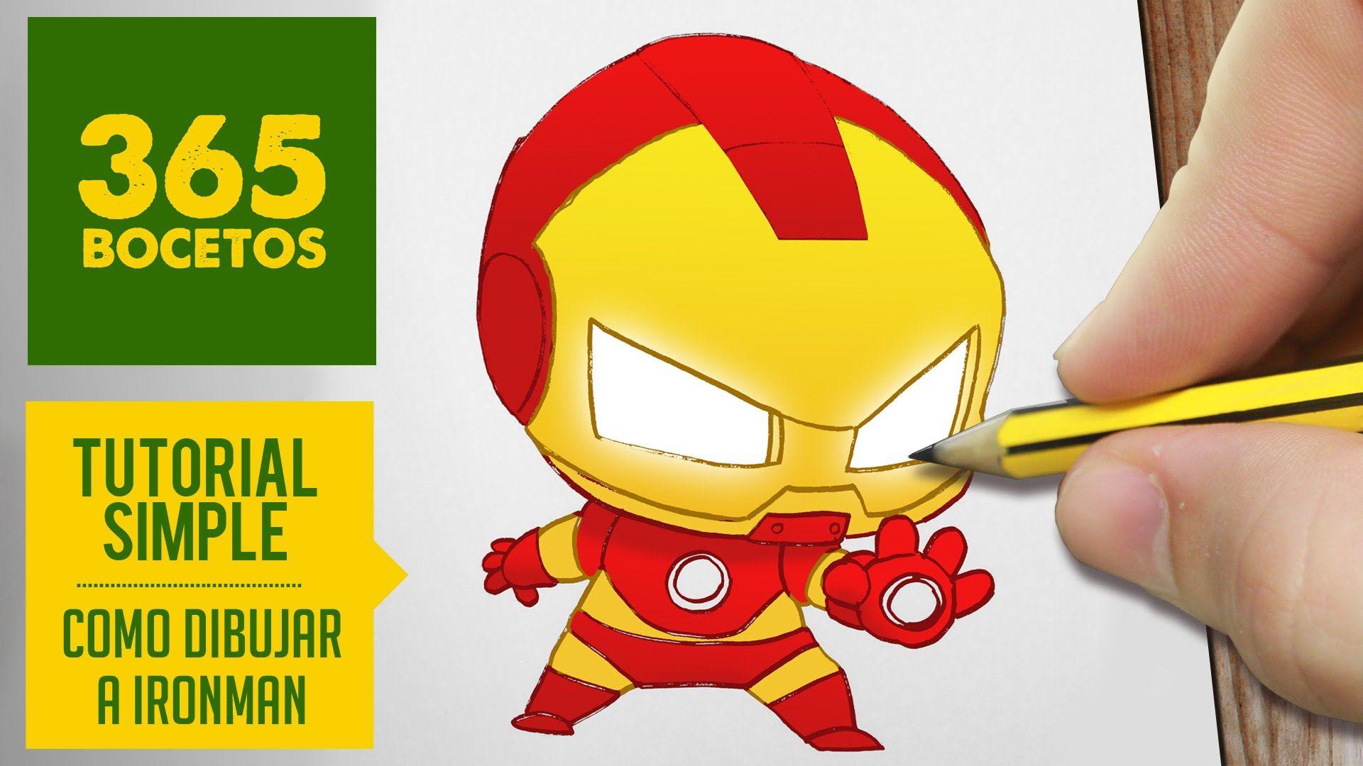 Iron Man Marvel Dibujos Kawaii 365 Dibujos De 365 Bocetos Dibujos Kawaii