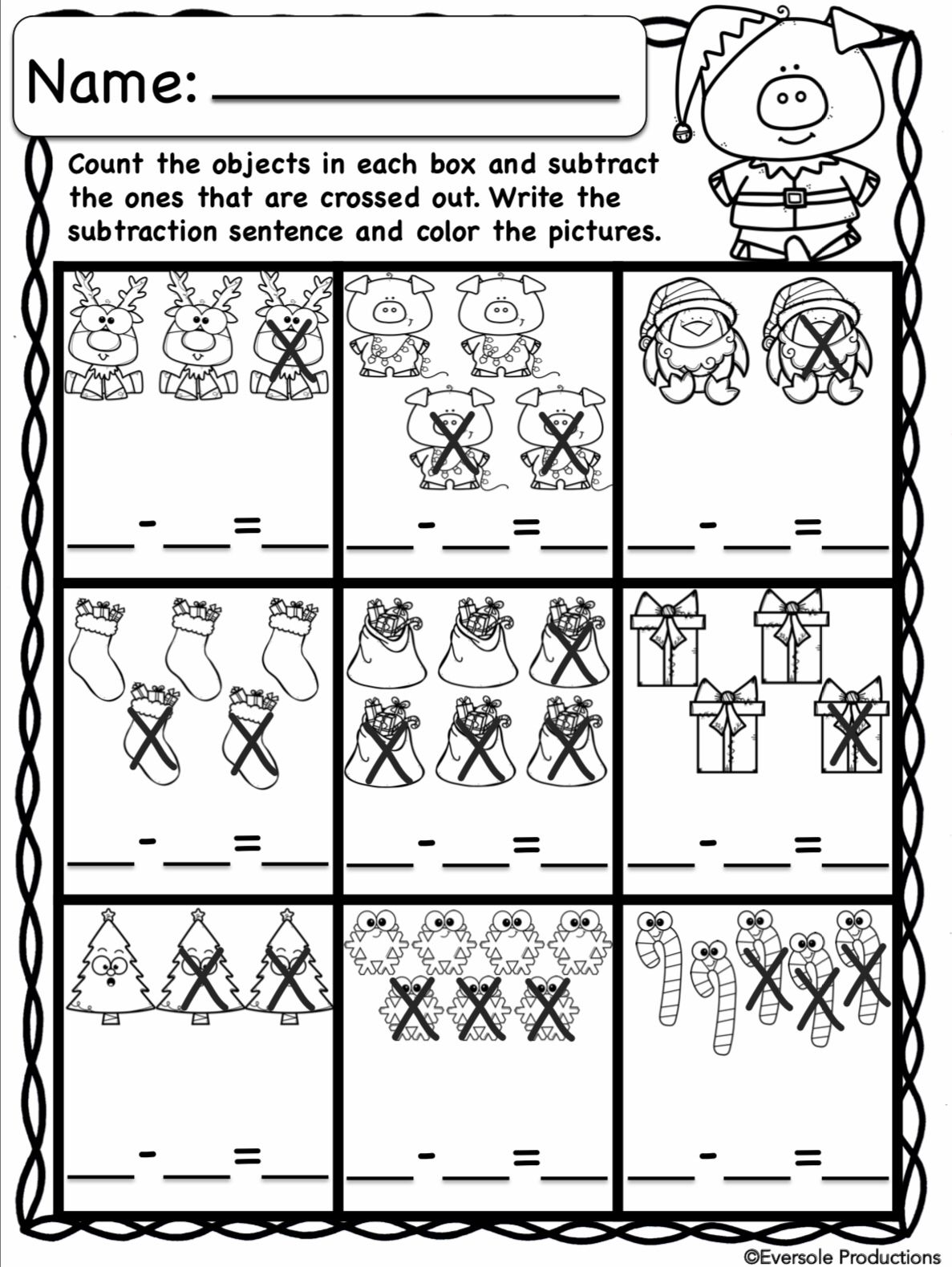 Christmas Math Adding And Subtracting Within 10 No Prep Subtraction Christmas Math Adding And Subtracting Adding and subtracting up to 10