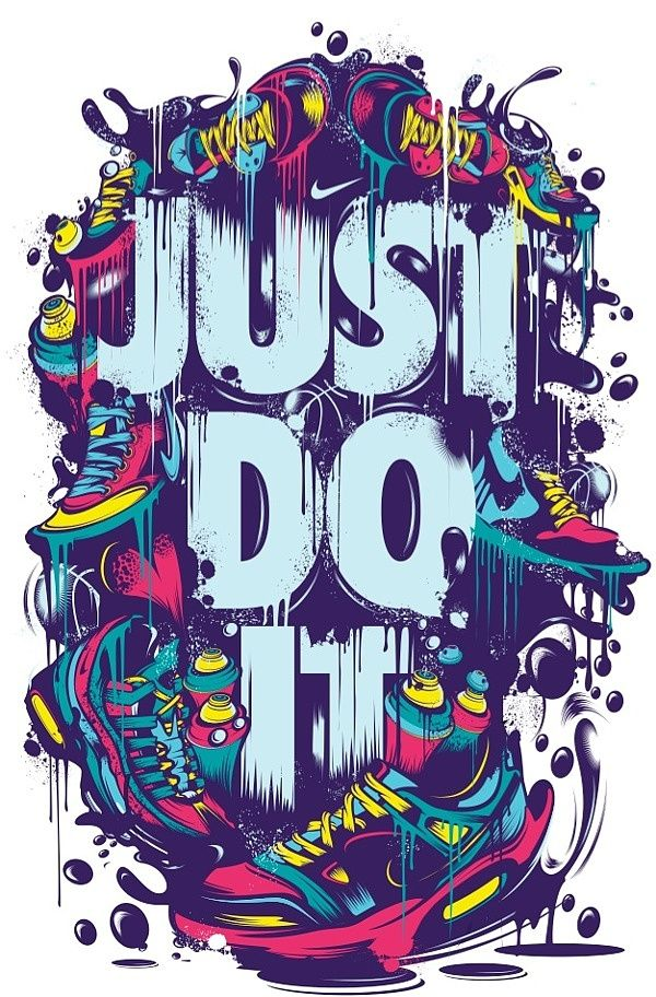 Nike by yup visual art studio httpinspirefirst201311 nike by yup visual art studio typography illustration cmyk sneakers voltagebd Image collections