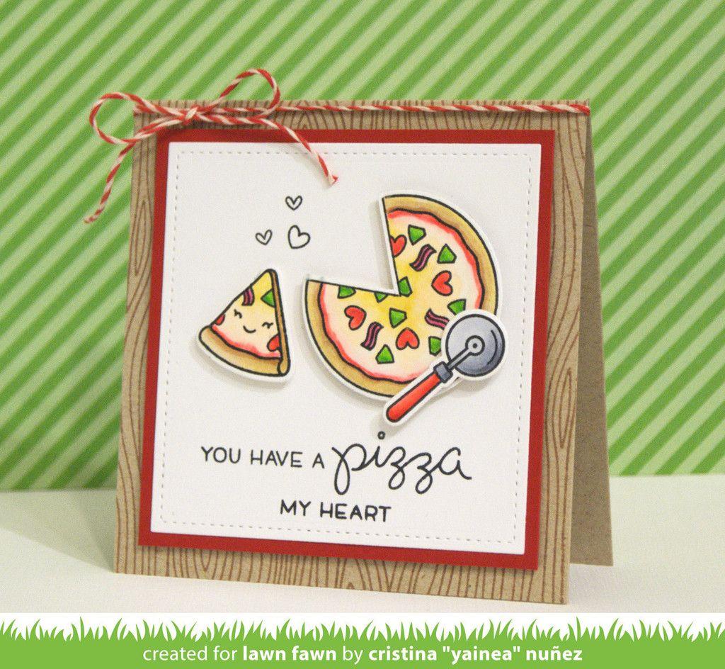 Lawn Fawn – Die – Pizza Mein Herz  – Card Ideas 4
