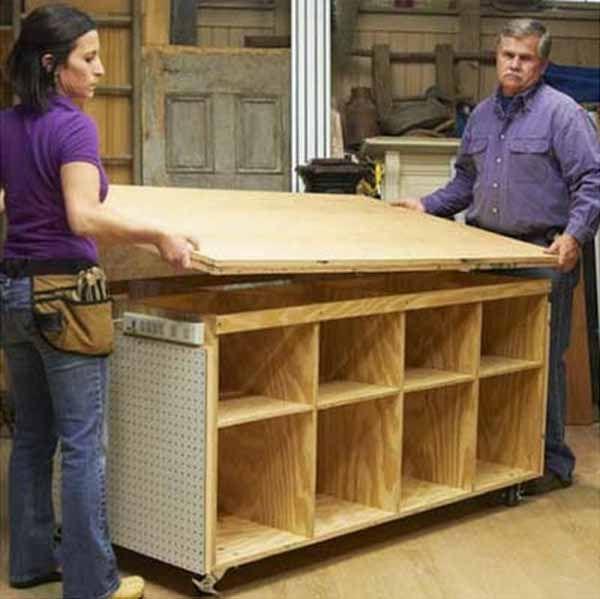 Fabrica un banco de trabajo para bricolaje y manualidades - Trabajos de bricolaje ...