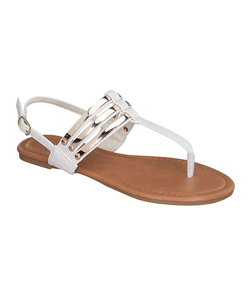 4039d7ed8f90 Look at this  zulilyfind! White Dress Sandal by TOP MODA  zulilyfinds