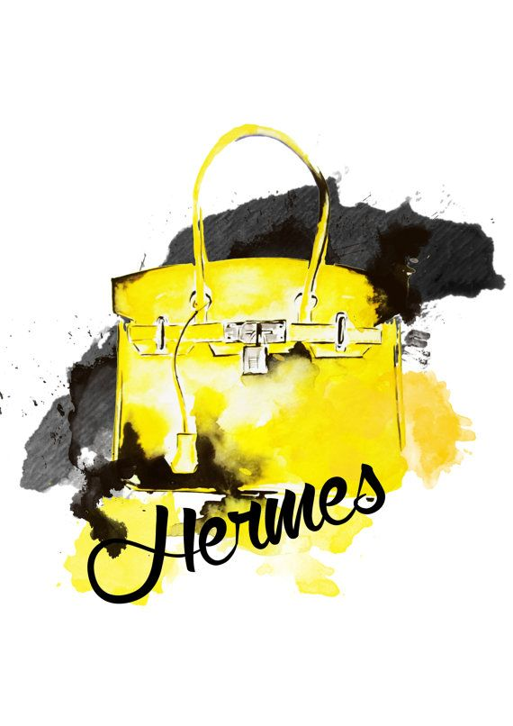 318c616104 Hermes Bag Fashion Art Print by KomaArt on Etsy
