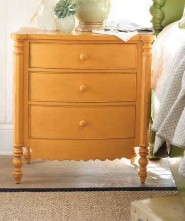 The Mercer Island Chest Is An Adorable Storage Chest, Perfect As A Bedside  Table. Features Three Storage Drawers And Crafted With A Scallop Design.