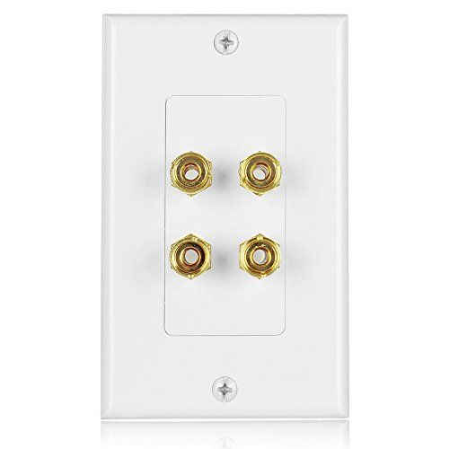 Banana Plug Wall Plate Captivating Tnp Home Theater Speaker Wall Plate Outlet 2 Speaker Sound Audio Review