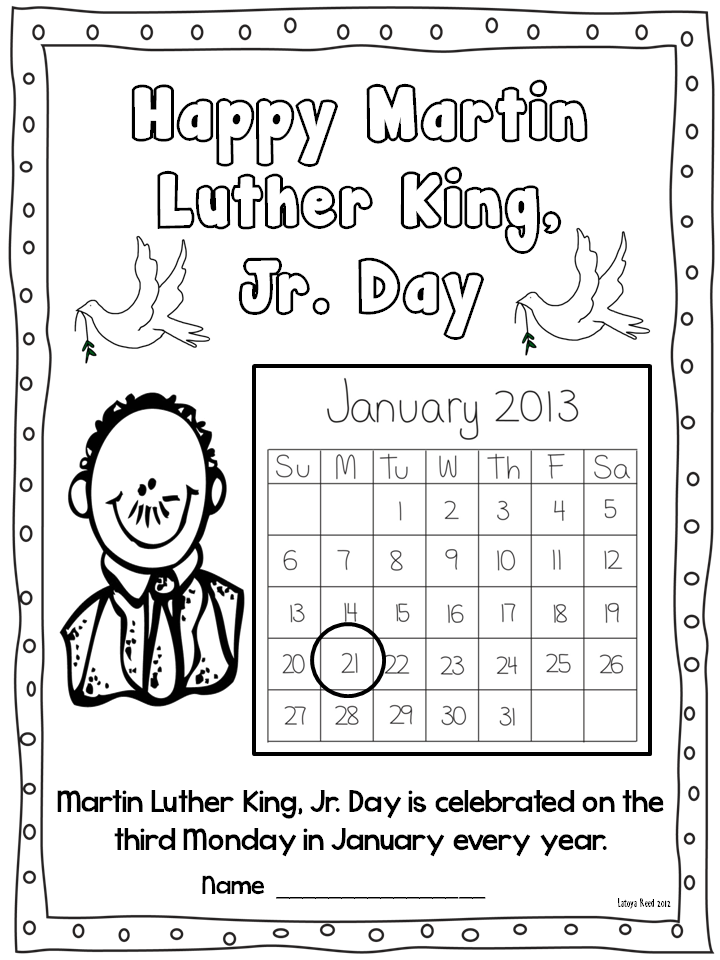 Martin King Printable Worksheets Free – Free Martin Luther King Worksheets
