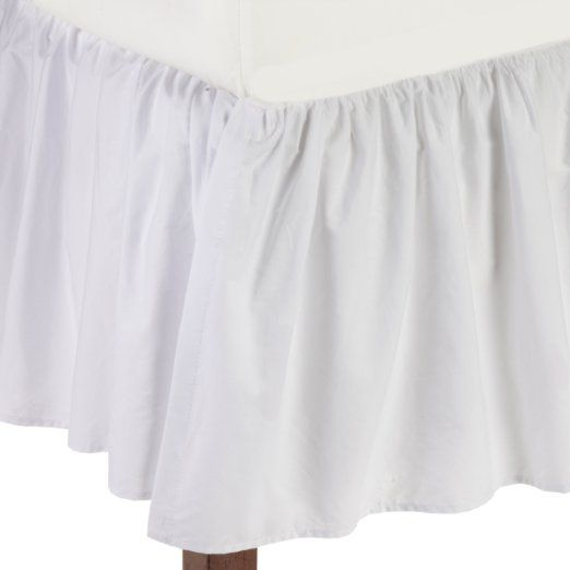 Amazon.com: American Baby Company 100% Cotton Percale Ruffle Crib Skirt, White: Baby