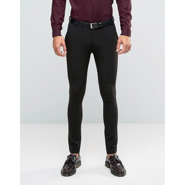 Asos Super Skinny Suit Trousers In Black 40 Liked On Polyvore