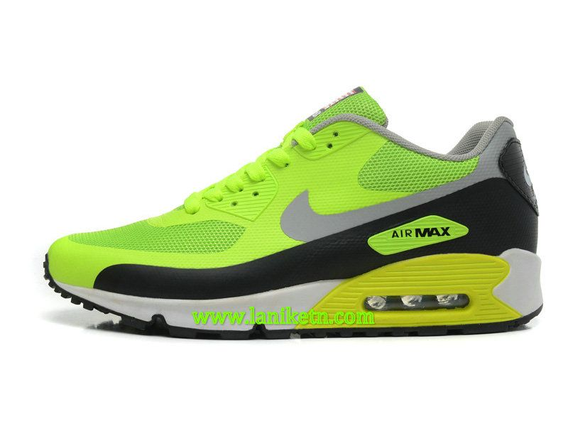 NIKE AIR MAX+90 HYPERFUSE CHAUSSURE POUR HOMME Vert Argent