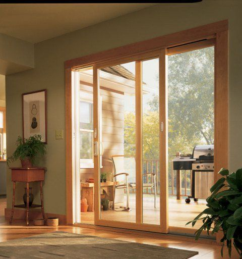 Andersen Narroline Gliding Door With Wood Interrior Renewal By Andersen Offers Variou Contemporary Patio Doors Contemporary Patio Contemporary Patio Furniture