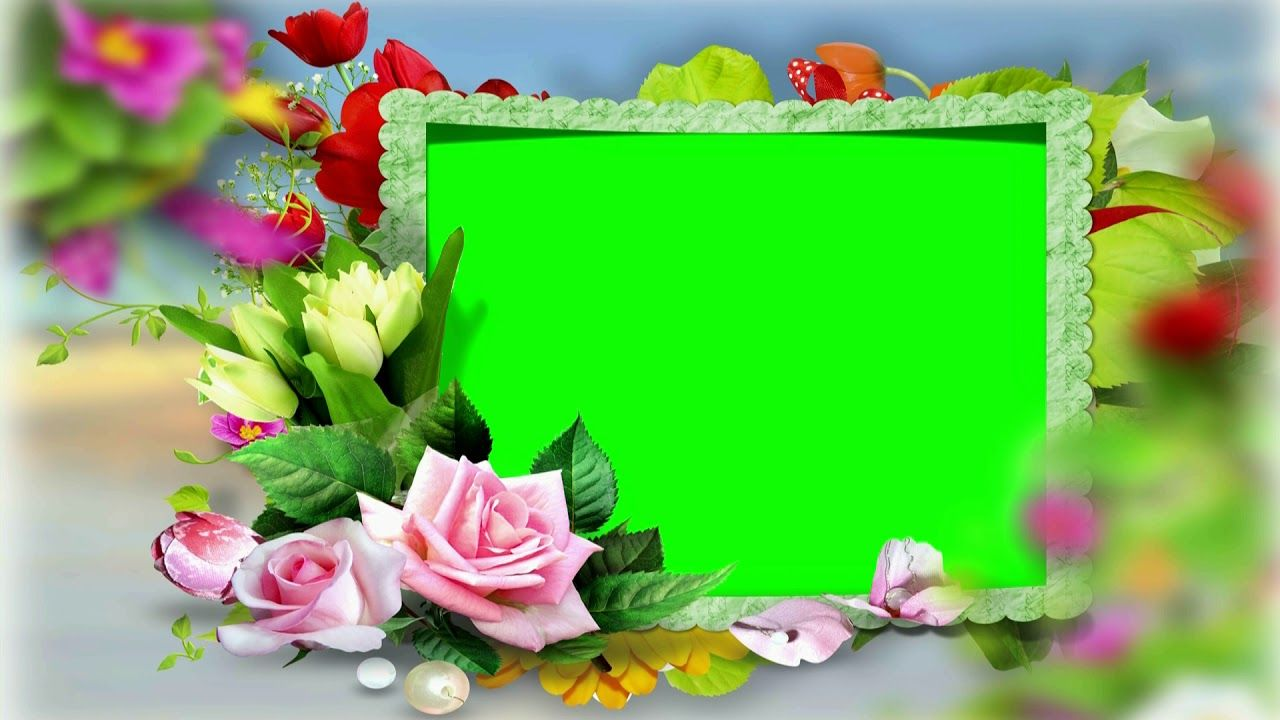 Wedding Video Background Green Screen Flower Frame Chroma Key Video 484 Green Screen Video Backgrounds Framed Wedding Photos Free Video Background