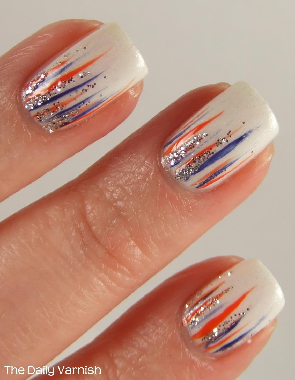 Denver Broncos Nails   Lookin' Good - Nails & Toes ...