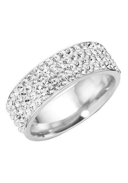 Kaufen Sie Firetti Silberring »rhodiniert, solide, glamourös« mit Swarovski-Kristallen online OTTO