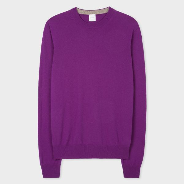 Men's Purple Cashmere Sweater | Mens Cashmere Sweaters | Pinterest