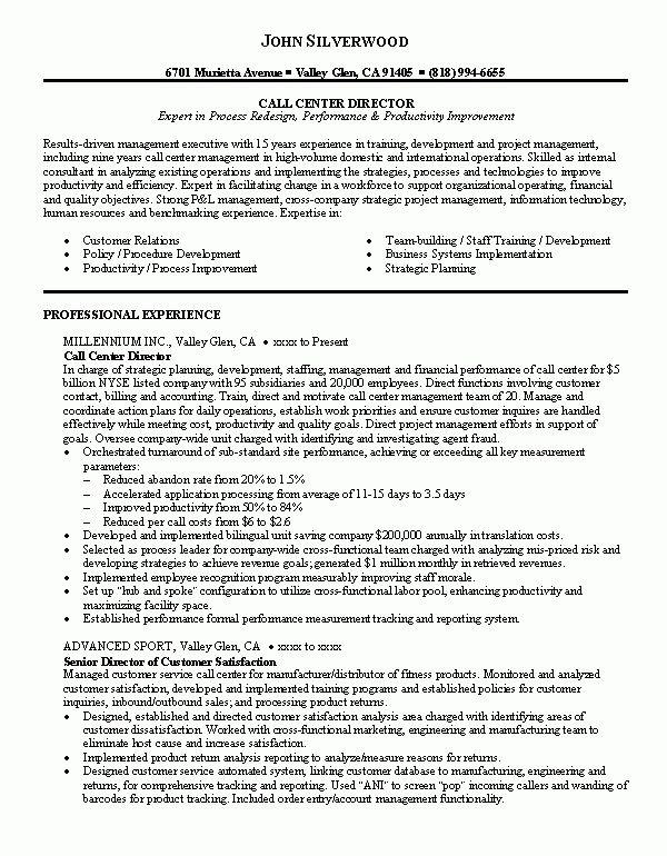 Call Center Job resume examples, Call center, Resume