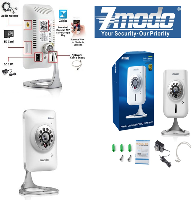 HD ZMODO Wireless IP Camera Wireless ip camera, Ip