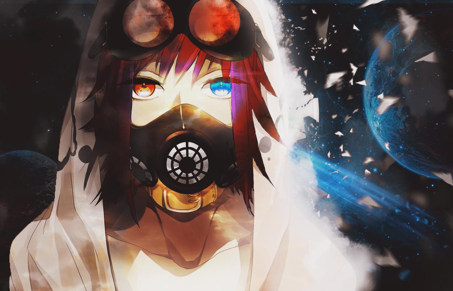 anime, #Vocaloid, #Megpoid Gumi, #gas masks, #goggles  Wallpaper