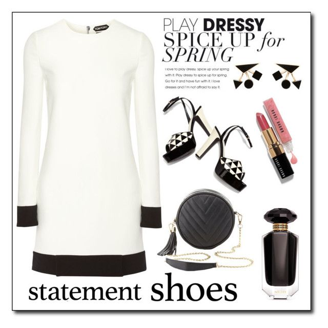 """""""Statement Shoes!"""" by diane1234 ❤ liked on Polyvore featuring Victoria's Secret, Tom Ford, Valentino, Charlotte Russe and Bobbi Brown Cosmetics"""