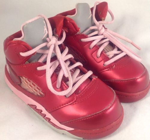9cd346b3646 ... best price nike air jordan 5 retro v gs girls gym red pink valentines  day 440892
