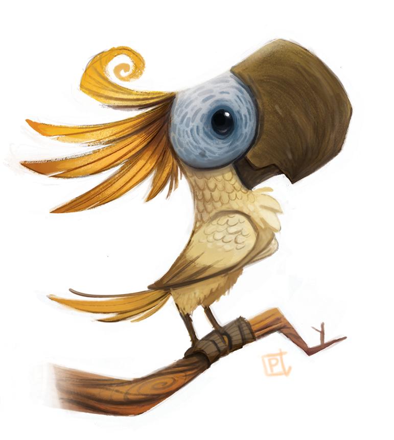 Смешная птица рисунки