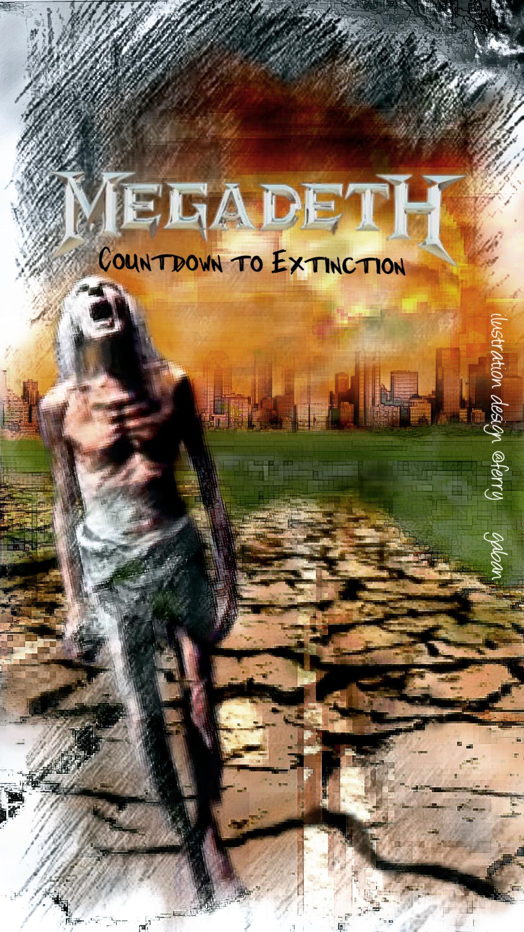 Greenlinedesign Countdown To Extinction Album 1992megadethmegadeth Vicrattlehead Rattlehead Countdowntoextinction