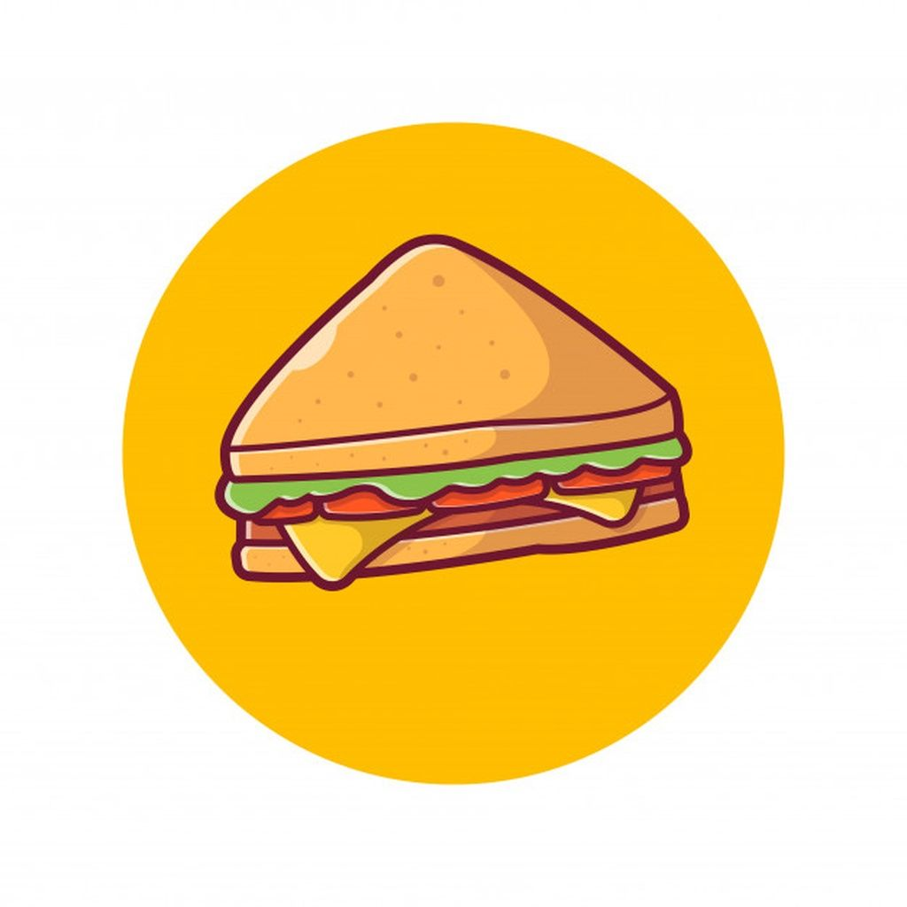 Sandwich Icon Ham And Swiss Cheese Sandwich Food Icon White Isolated Paid Sponsored Ad Ham Icon C Food Icons Cheese Sandwiches Sandwich Drawing