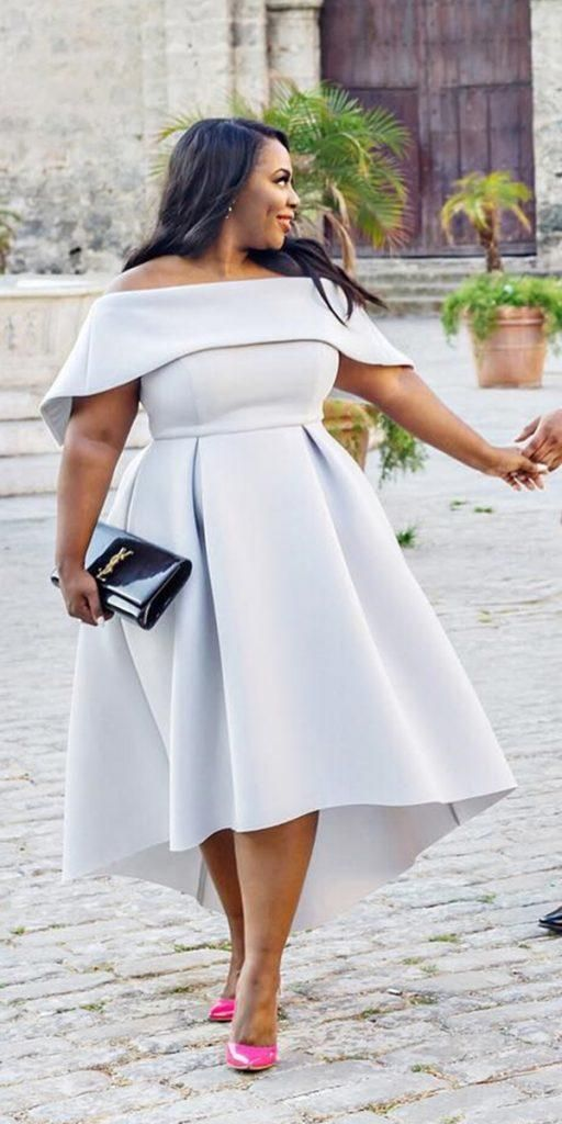 Plus Size Wedding Guest Dresses To Try #bridalgown #weddingdress