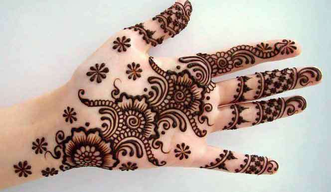 Front Hand Henna Mehndi Design : Arabic henna designs for engagement art