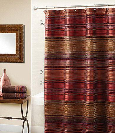 Croscill Plateau Shower Curtain For The Home Pinterest Orange Bathrooms