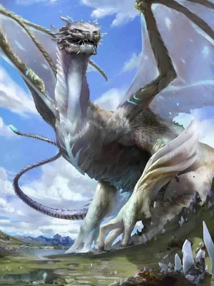 Awesome Silver Dragon Fantasy Art